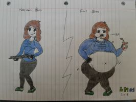 Normal and Fat Bloo drawing by LuigiHorror64