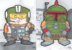 Star Wars Boba Fett and Wedge by crpechonick