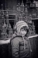 Little girl and the cathedrals by daaram