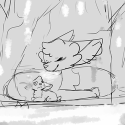 Freezing warmth (Inktober day 4) by Quick-Fyre