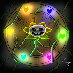 Flowey Cipher Wheel by M1ntGr33n