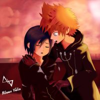 Xion and Roxas After Battle by aileenvelis