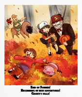 Gravity Falls End of Summer by MintAnnComics