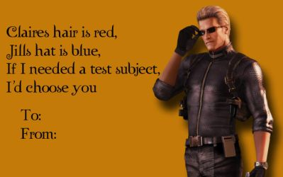 Tacky RE Valentines-Albert Wesker 2 by Isobel-Theroux