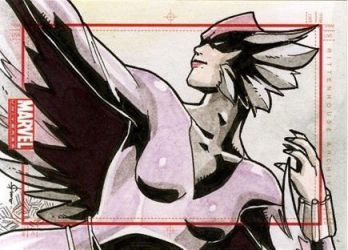 Deathbird by Juno Sanchez - 2014 Marvel Universe by ElainePerna