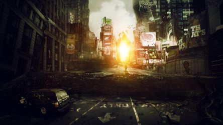 I am Legend, Times Square by roald92