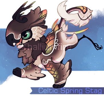 Celtic Spring Stag by NebNomMothership