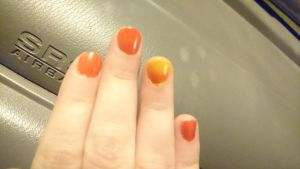 Sunset nails... by Anonymous---Lucifer