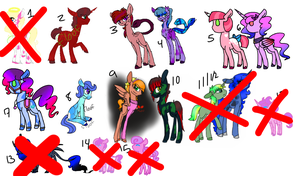Old Adopts for Trade (open) by PonyFloof