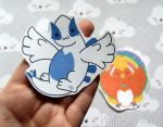 Lugia/Ho-Oh Stickers and Magnets by pixelboundstudios