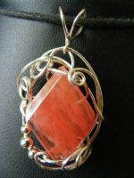 Cherry Quartz in silver by BacktoEarthCreations