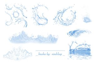 Water Splash Brushes by ninelvlsup