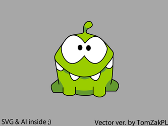 Cut The Rope Vector Frog by TomZakPL
