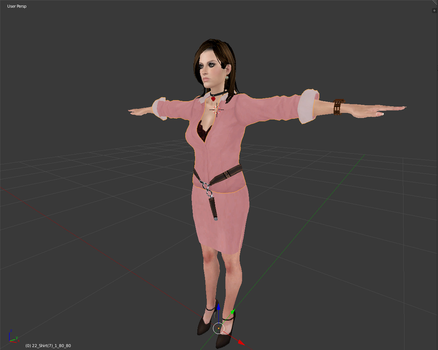 Excella Gionne Secretary Outfit WIP by Antionio3D
