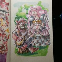 Musician Greg and Space Warrior Rose Quartz by junsouk95