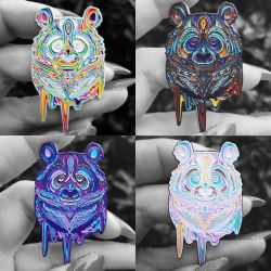 Groovy Panda Pins by MintyFreshThoughts