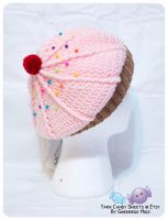 KIDS - Light Pink Cupcake Hat 2 by moofestgirl