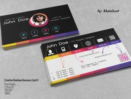 Creative Rainbow Business Card II by khaledzz9