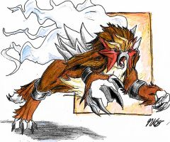 Entei Legendary Dog of Fire