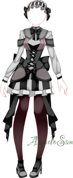 Gothic loli dress outfit adoptable CLOSED by AS-Adoptables