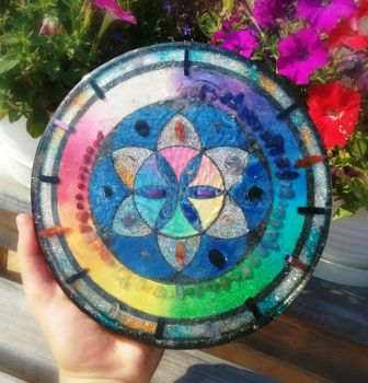 Orgonite charging plate by Catscendence
