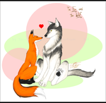 The Fox and the Wolf by Absolute-Sero