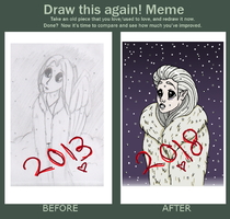 Before And After: Asmodeus by PercyTheOwl