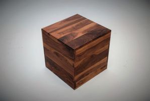 Walnut Cube Table by belakwood