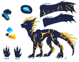 Dragonsona Feral Ref sheet by Leithster