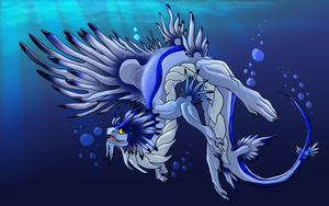 Vespisia's Water Dragon by jeweledphoenix