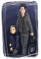 DEVIANT!CONNOR AND ALIVE!COLE AU by LadyRWidow