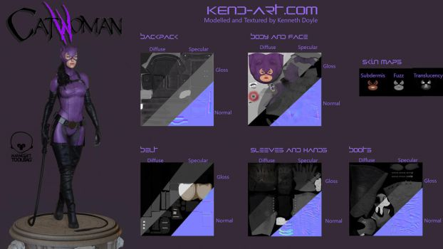 Catwoman - Texture maps by kdoyle9