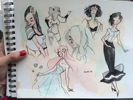 Water Color Sketches by Chiara-Maria