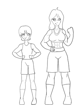 Julias and Gil Height Compare by TroytheDinosaur