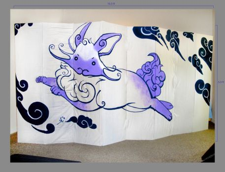 Bunny Folding Pannel Divider by Toraigan