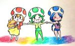 AT: Rainbow Sisters by Derochi