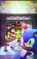 Official - Sonic The Hedgehog #271 Variant Cover by Elesis-Knight