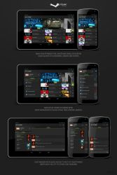 Redesigned Steam for Androids, Holo by VoYtHAs