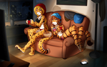 Mihari and Flora Chill by Twokinds