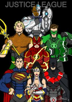 Justice League by IchiroHyuuga