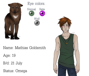 Mathias Goldsmith (Teen wolf AU oc, open for RP) by Jinetix