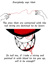 Day 10: Red string by thegalaxymuffin