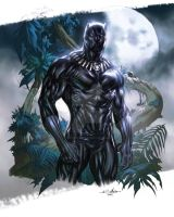 Black Panther - Daniel M. Chavez colors by SpiderGuile