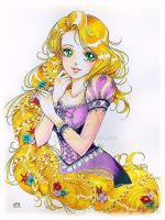 Rapunzel Fan art commission by Suki-Manga