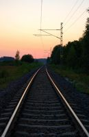 Never ending railway track by MLgraphy