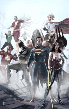 New 52 Justice League by benttibisson