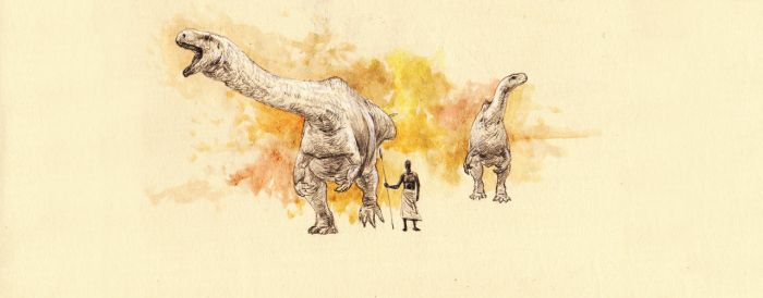 Giant basal sauropodomorph by Hyrotrioskjan