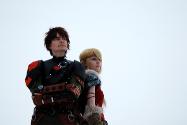 Hiccup and Astrid by Rianka