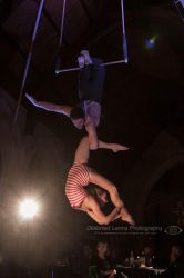 Duo Trapeze Under Spotlight 2 by Distorted-Lenns
