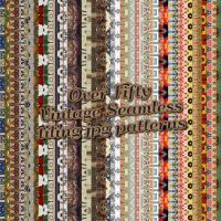 Vintage Pattern Mixture by HGGraphicDesigns